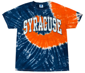 Orange/Navy Syracuse Arc Tie Dye T-Shirt