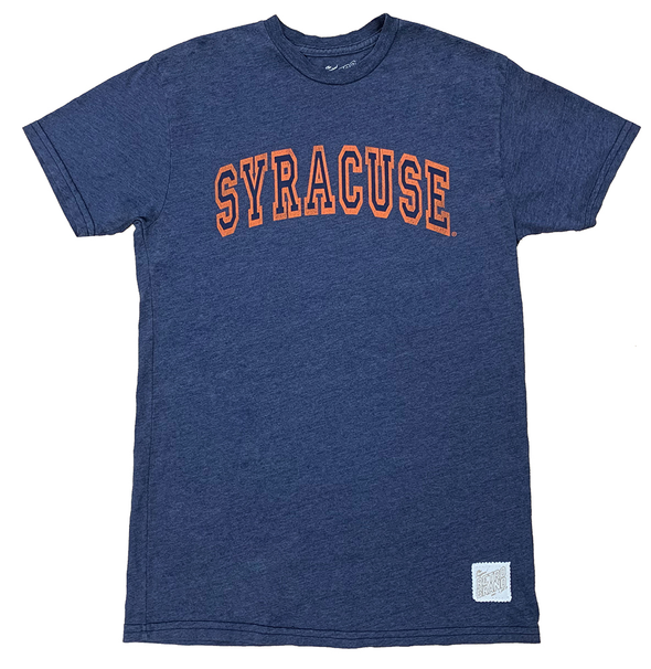 Retro Brand Heather Navy Distressed Syracuse Tee