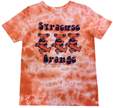 Retro Brand Women's Tie Dye Dancing Bears Distressed T-Shirt