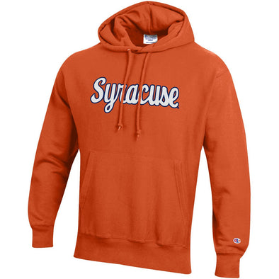 Champion Heavyweight Reverse Weave Tackle Twill Script Syracuse Hoodie