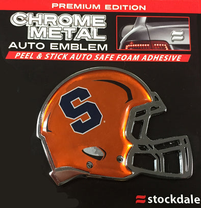 Stockdale Syracuse Football Helmet Chrome Metal Auto Emblem