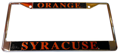 R&D Syracuse Orange License Plate Frame