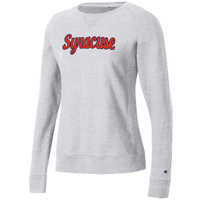 "Champion Women's Heavyweight Reverse Weave ""Script Syracuse"" Crew Neck Sweatshirt"