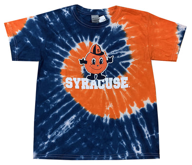 Youth Orange/Navy Tie Dye Otto Tee