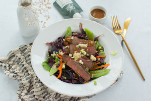 Asian Steak Salad with Creamy SuperFat Dressing Recipe