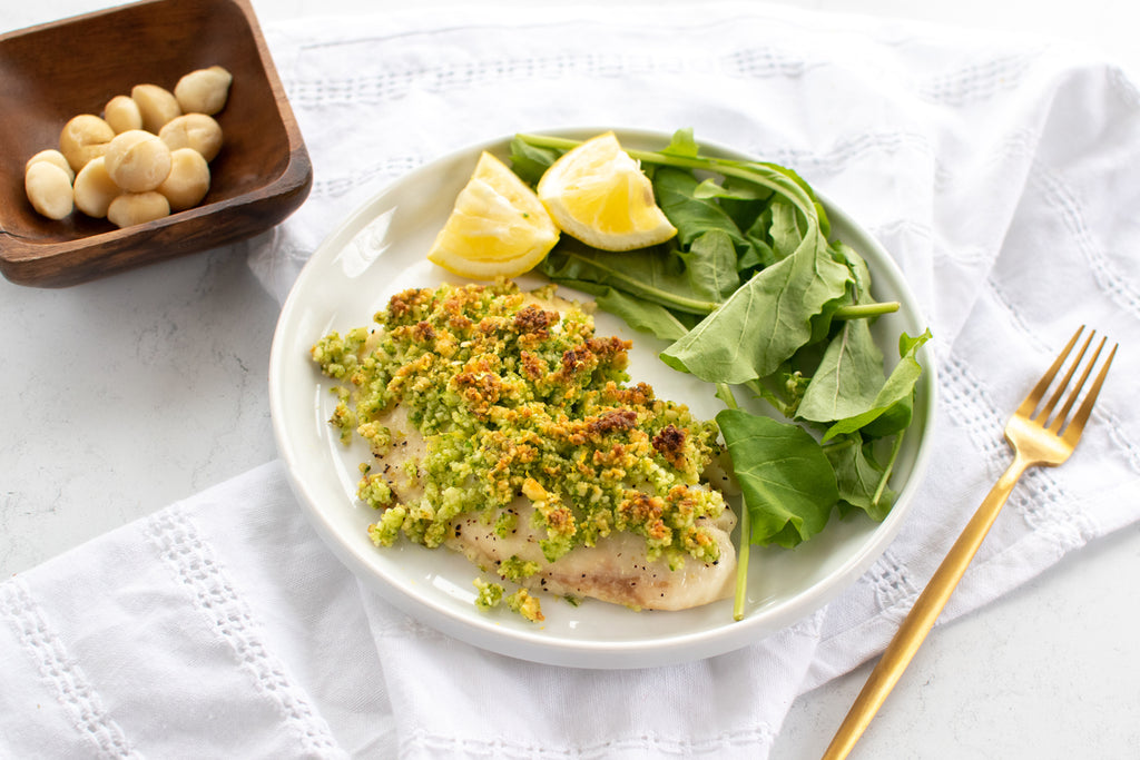 Macadamia White Fish Gremolata Recipe