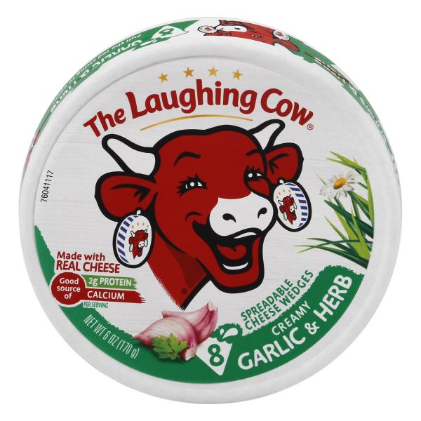 Laughing Cow Cheese Wedges - Creamy Garlic and Herb
