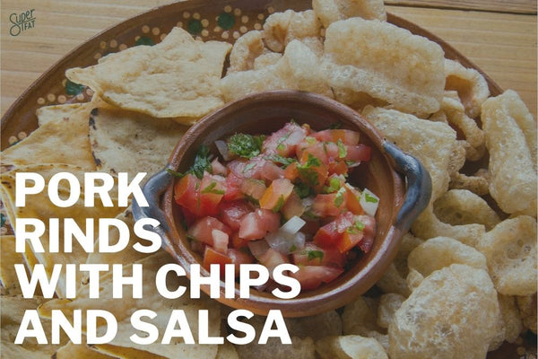 Pork Rinds with Chips and Salsa