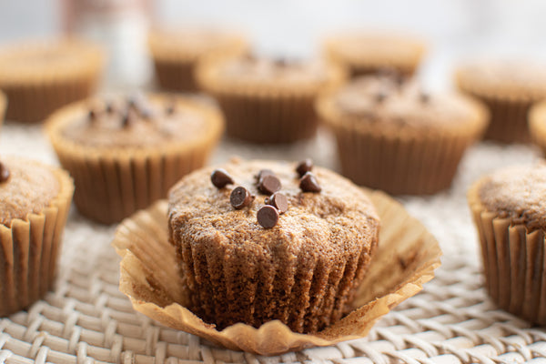 Keto Spiced Chocolate Chip Muffins