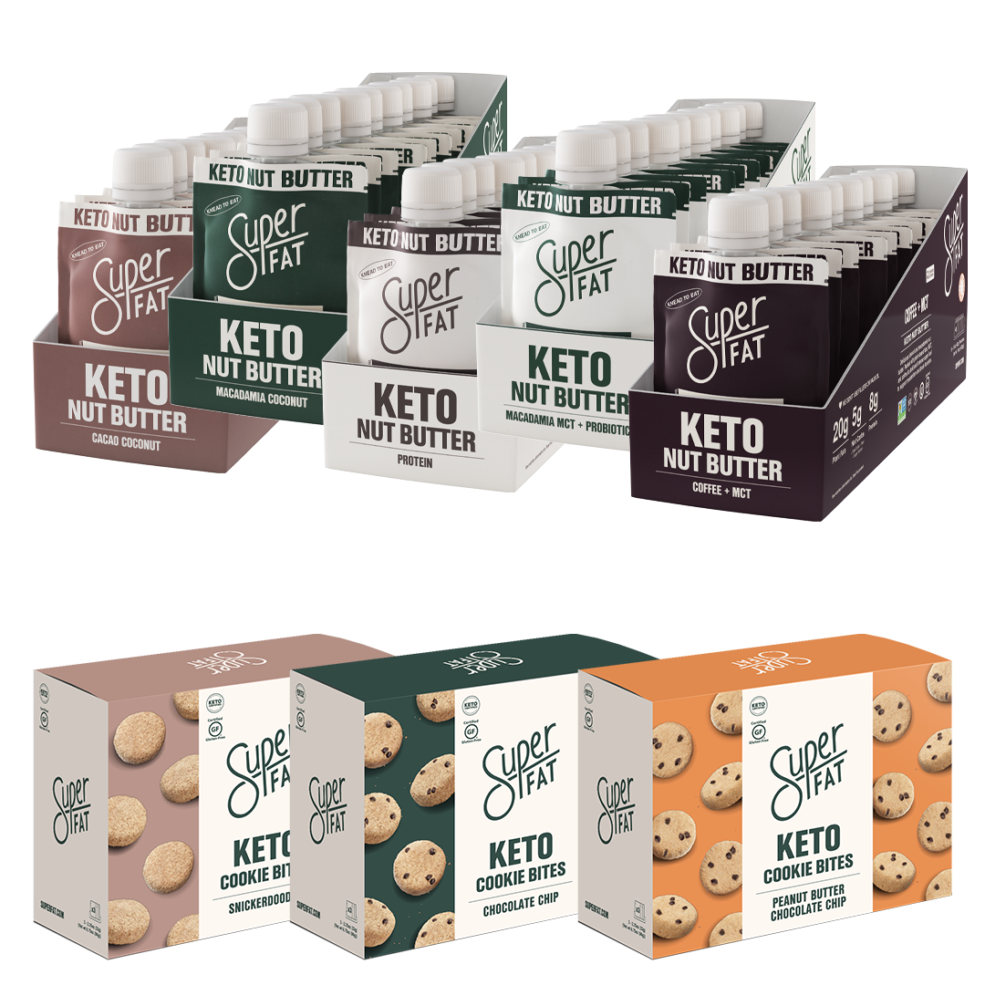 SuperFat SUPER BUNDLE! - 1 box each flavor of cookies, 1 box each flavor of nut butters