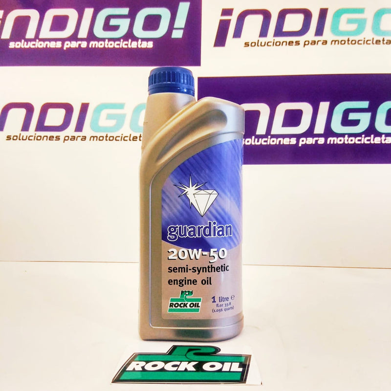 Aceite motor Rock Oil Guardian 20W50 litro Semi-sintetico