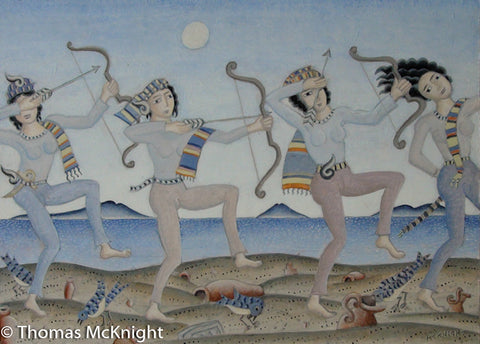 Four Archers Dancing