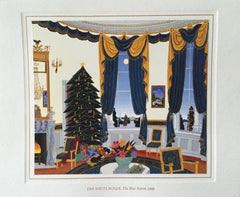 Christmas Card - Official White House Christmas Card for 1995 The Blue Room