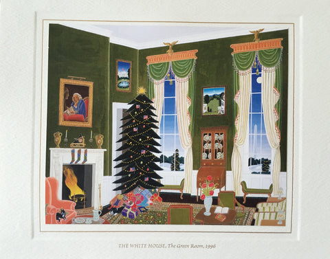 Christmas Card - Official White House Christmas Card for 1996 The Green Room