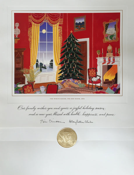 christmas card official white house christmas card for 1994 the red room