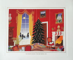 Christmas Card - Official White House Christmas Card for 1994 The Red Room
