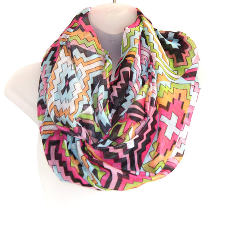 Thin Infiniti Scarf - Thin Chevron (more colours available)