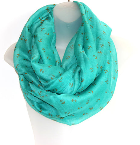 Thin Infiniti Scarf - Anchors (more colours available)
