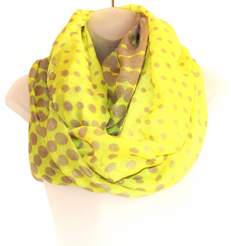 Thin Infiniti Scarf - Polkadots (more colours available)