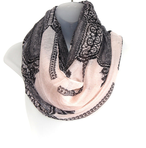 Thin Infiniti Scarf - Lace Pattern (more colours available)
