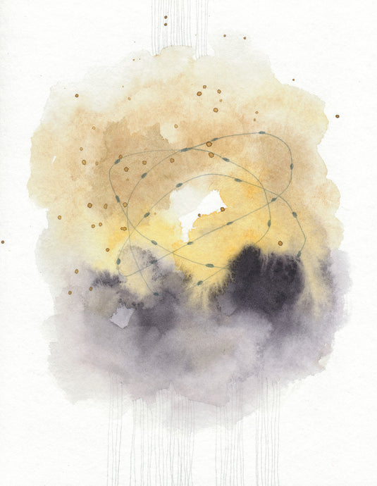Original Watercolor Nebula 06