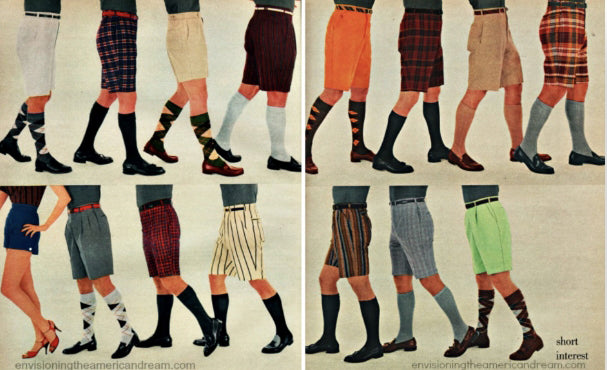 81603c622b An apparel advertorial, displaying various styles of shorts, 1956