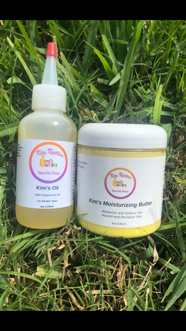 Kim's Oil w/ Peppermint Oil and Kim's Moisturizing Butter (Bundle Deal)