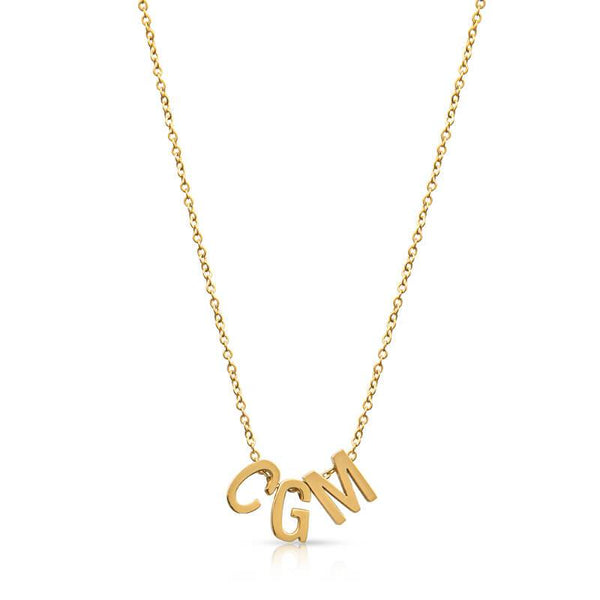 Custom Gold Initial Necklace