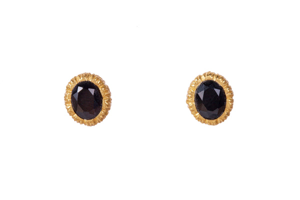 Vicky Stud Earrings - Black Onyx - Christina Greene LLC