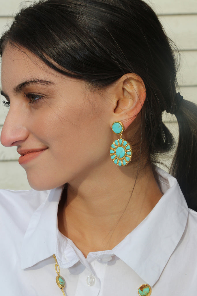 Southwestern Statement Earring - Christina Greene LLC