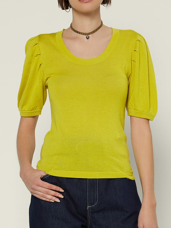 Short Sleeve Round Neck Sweater Top