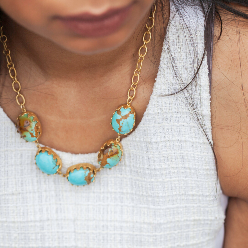 Monica Necklace - Turquoise