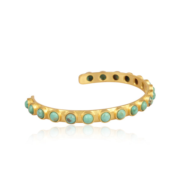 Turquoise Studded Cuff