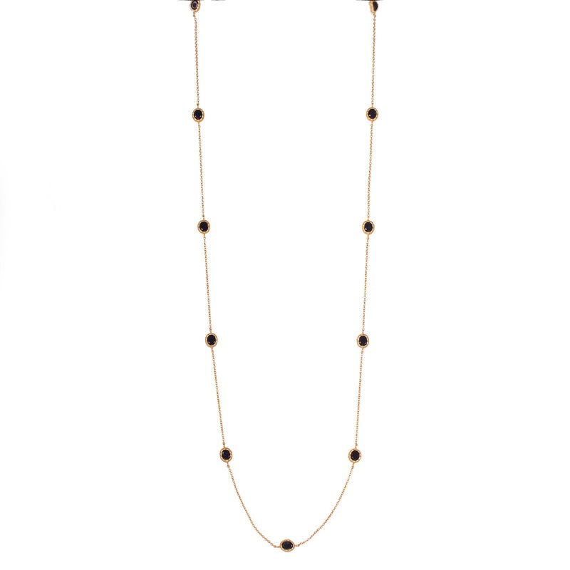 Elizabeth Necklace - Black Onyx - Christina Greene LLC