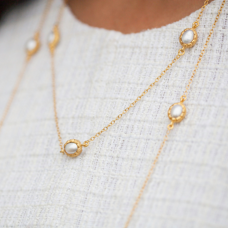 Charlotte Necklace - Pearl