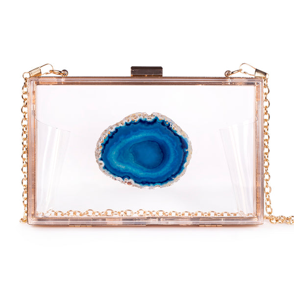 Agate Game Day Clutch - Teal - Christina Greene LLC