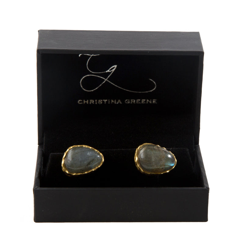 Cufflinks - Labradorite - Christina Greene LLC