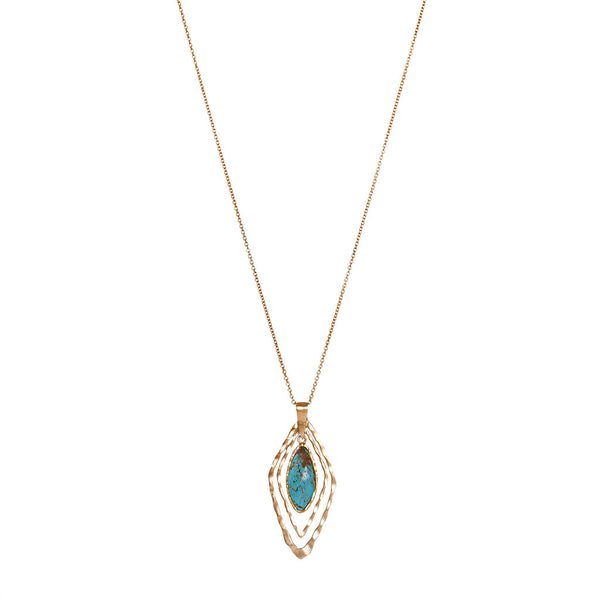 Deco Geo Necklace - Turquoise - Christina Greene LLC