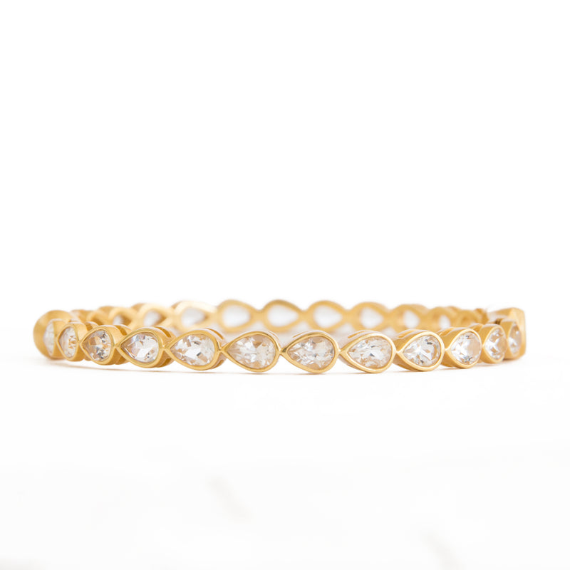 Posy Crystal Bangle - Christina Greene LLC