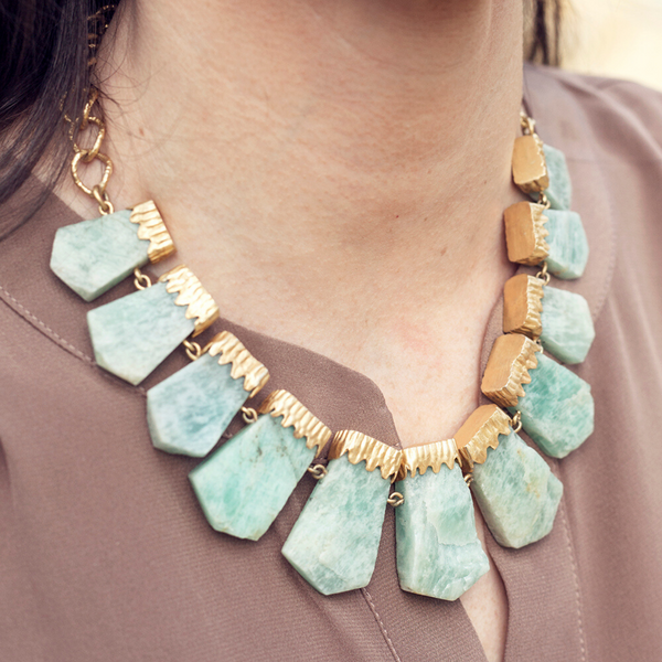 Chunky Necklace - Amazonite