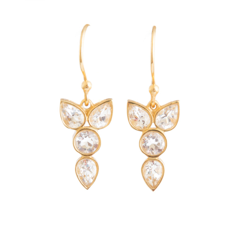 Erin Crystal Earrings - Christina Greene LLC