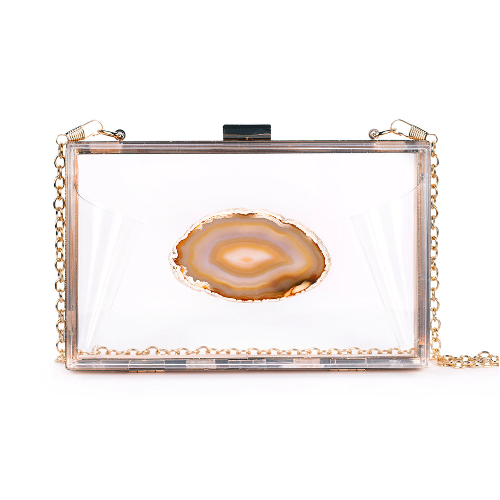 Agate Game Day Clutch - Natural