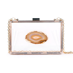 Agate Game Day Clutch - Natural - Christina Greene LLC