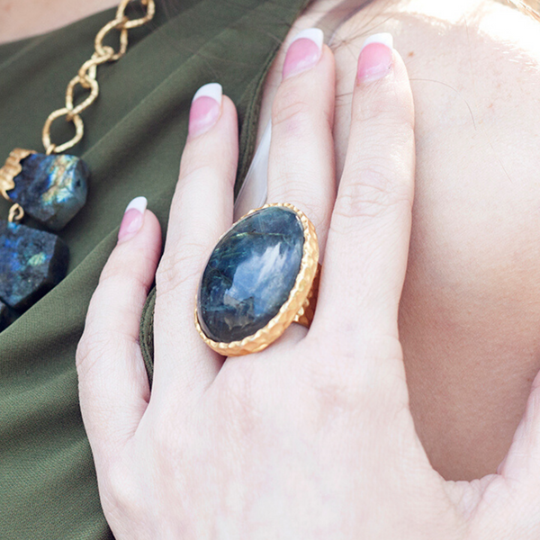 Statement Ring - Labradorite