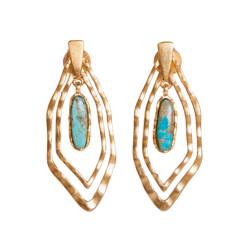 Deco Geo Earring - Turquoise - Christina Greene LLC