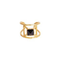 Annix Ring - Black Onyx - Christina Greene LLC