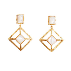 Milox Earring - Pearl - Christina Greene LLC