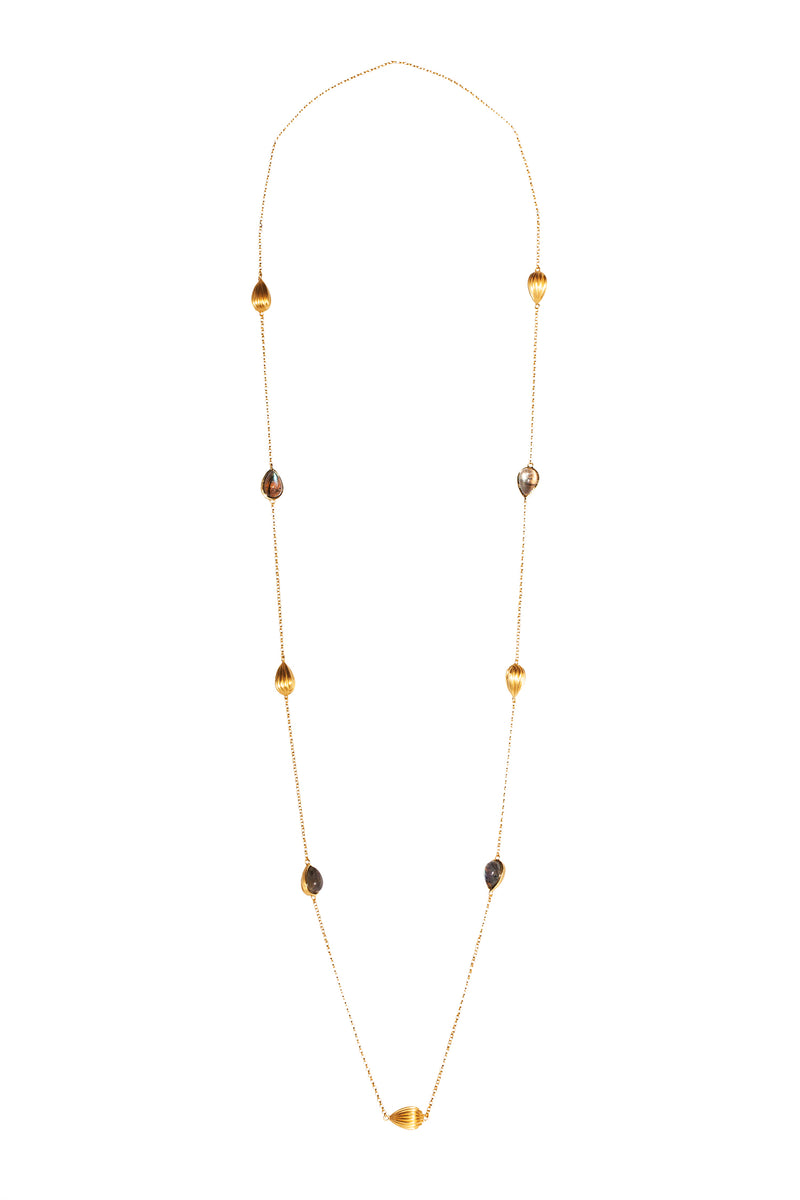 Luxe Layering Necklace - Labradorite - Christina Greene LLC