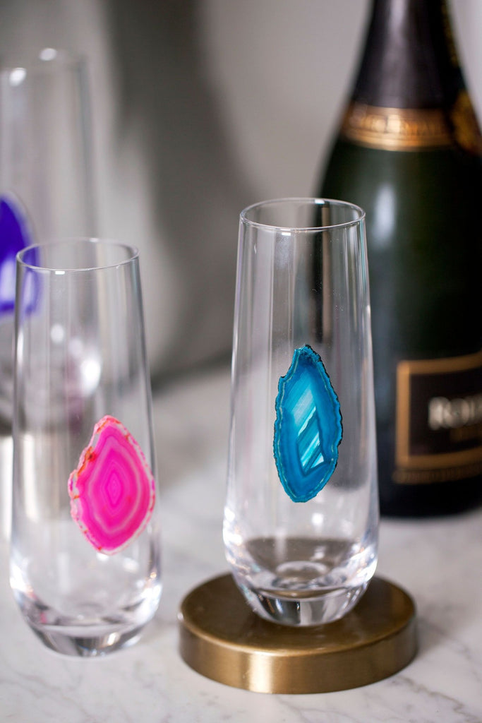 Agate Champagne Glass - Christina Greene LLC