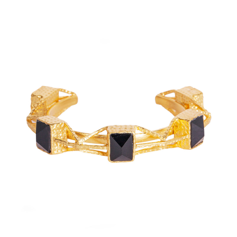 Alfina Cuff - Black Onyx - Christina Greene LLC